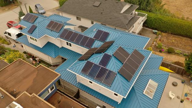 11.055KW Canadian Solar PV system- Tsawwassen, Delta, BC