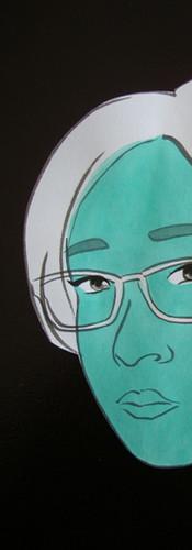 Autoportrait 6- étape   LIV CHANG - peinture et danse