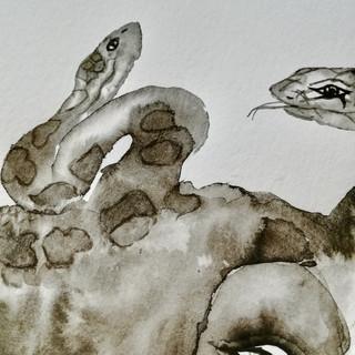 Être(s) fantastique(s)-6-détail | LIV CHANG - Artiste peintre chinois