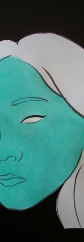 Autoportrait 8- étape   LIV CHANG - peinture et danse