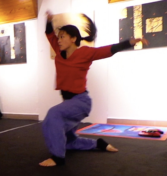 In & out 5   LIV CHANG - peinture et danse