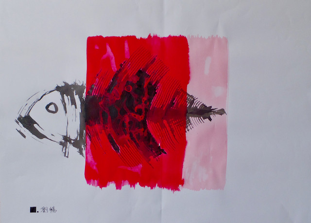 Le dernier poisson 2  | LIV CHANG - Artiste peintre chinois