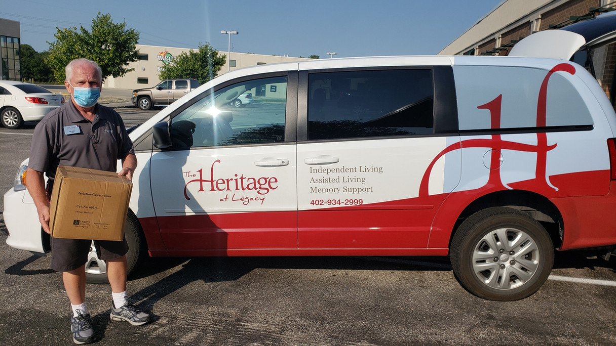Heritage at Legacy Omaha DonatePPE gowns