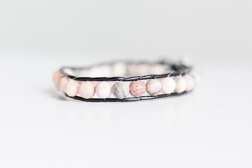 Pink Marble Wrap Bracelet