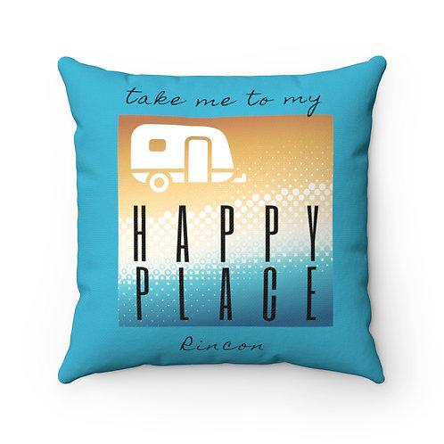 Rincon Happy Place Spun Polyester Square Pillow