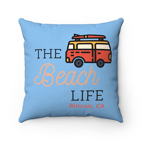 Rincon Beach Life Spun Polyester Square Pillow