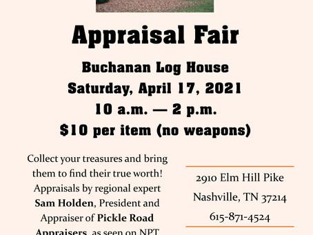 Back Again, Appraisal Fair April 17
