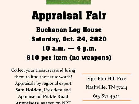 Back Again, Appraisal Fair Oct 24