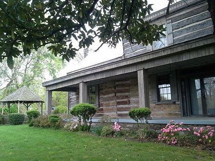buchanan log house, front