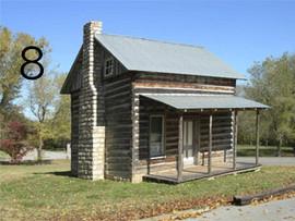 Addison log house