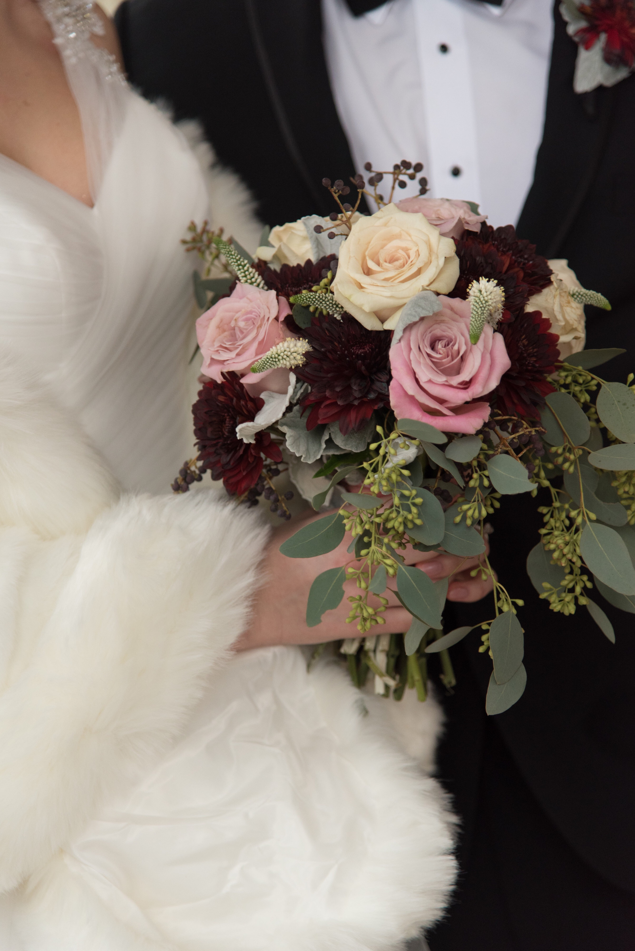 Burgundy & Rose Gold Bouquet