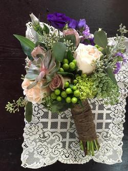 vintage romance bridal bouquet