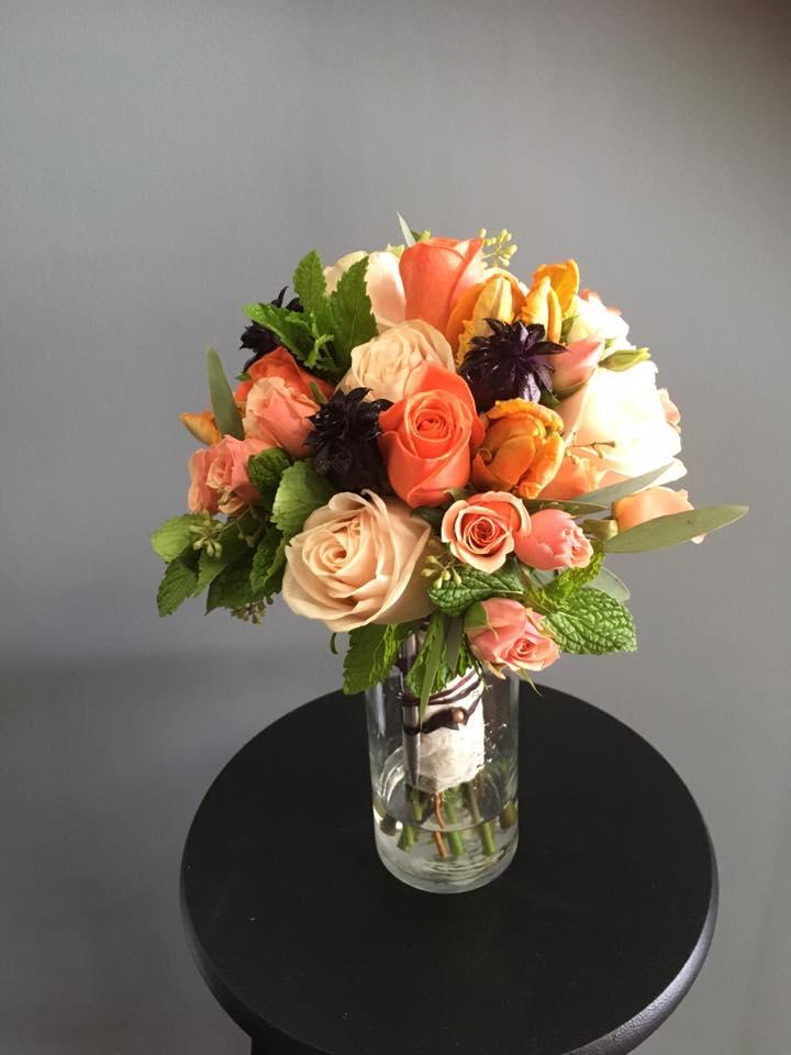 orange and peach bridal bouquet2