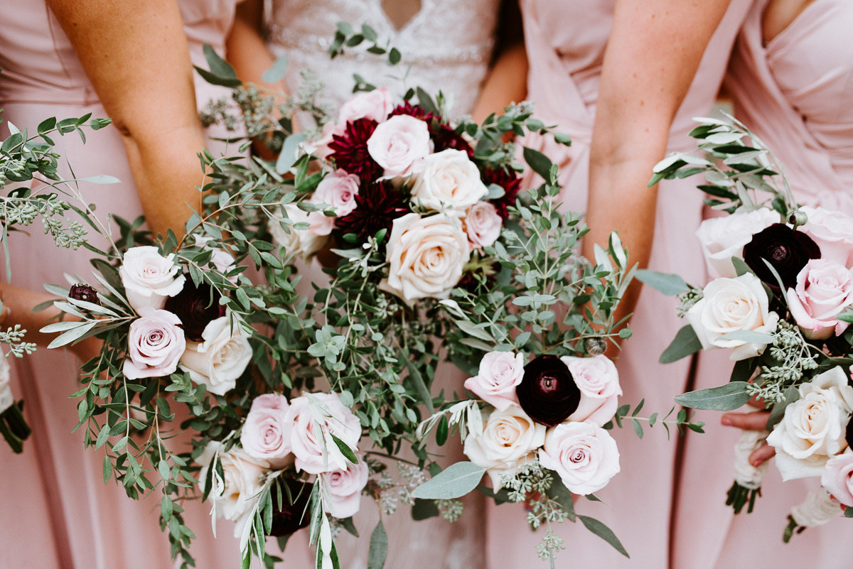 Burgundy & Blush Bridal Party