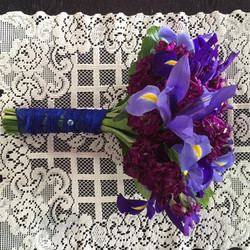 Iris and Stock Bride's Maid Bouquet