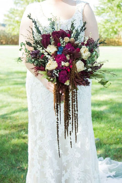 Lacy Fall Dried Floral Bouquet