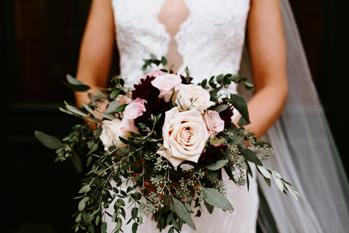 Burgundy & Blush Bridal Bouquet