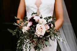 Burgundy & Blush Bridal Bouquet