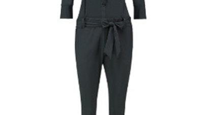 Angelique jumpsuit 3/4 with cuff dark grey
