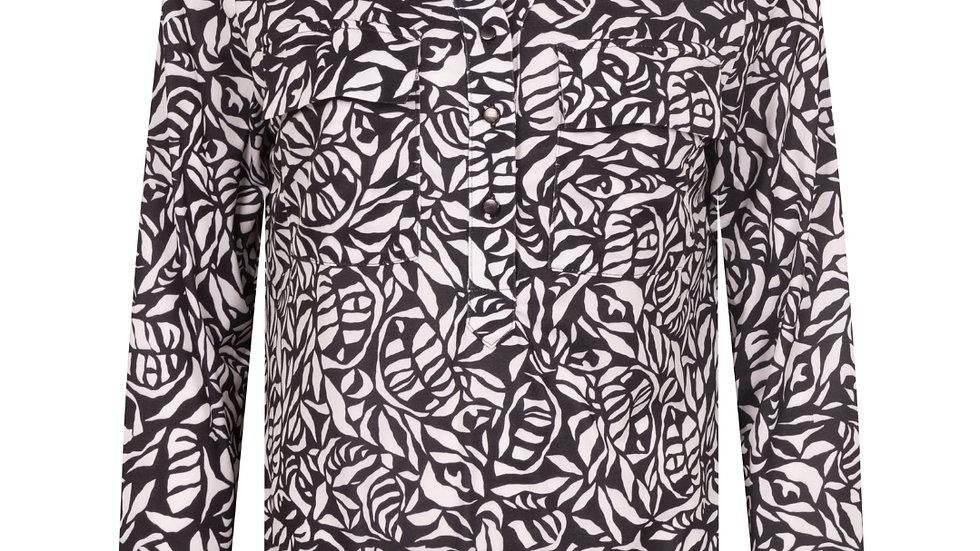 ZOSO blouse Telma zwart/wit