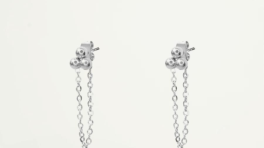 My jewellery Bolletjes oorbel met ketting