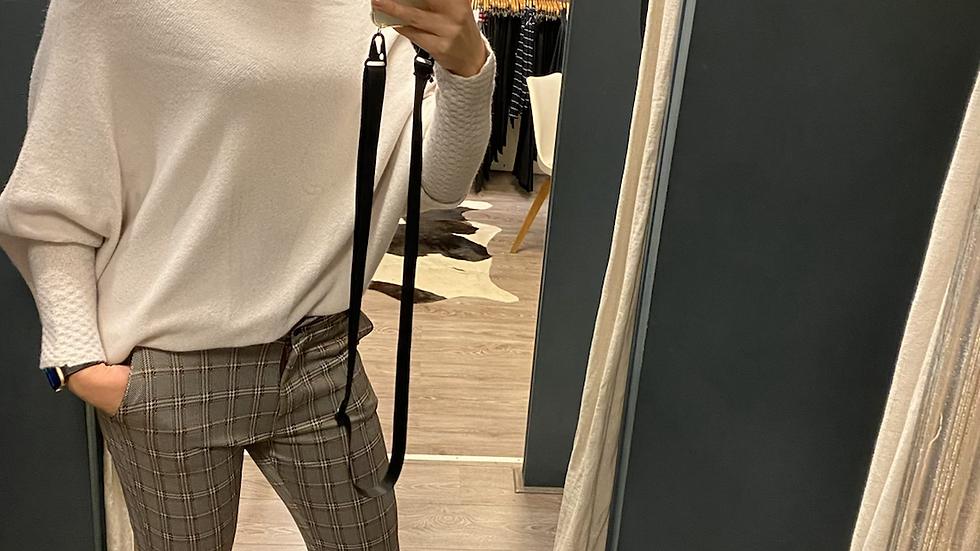 Check pants chino