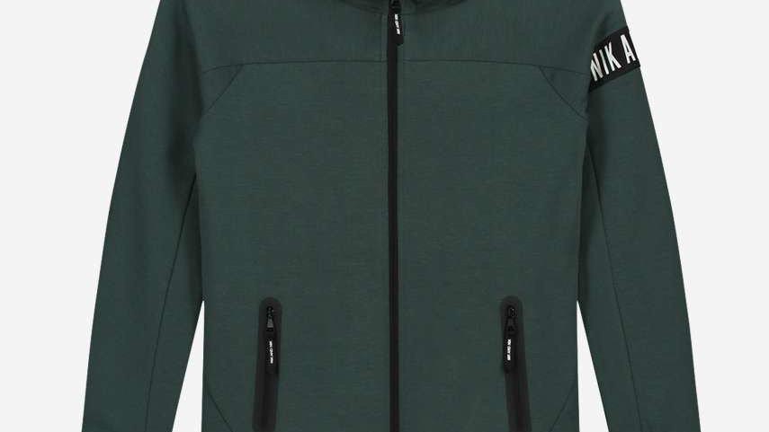 NIK&NIK Groen vest met een zwarte NIK&NIK band MURPHY JACKET
