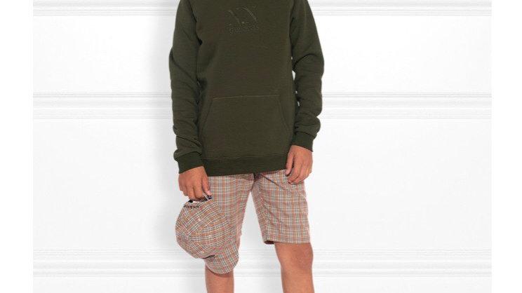 Groene hoodie met NIK&NIK borduursel