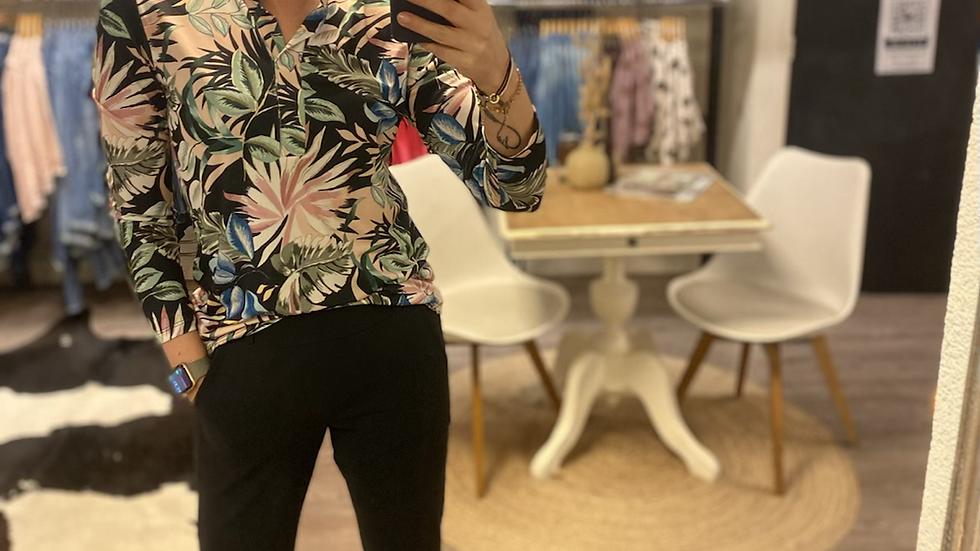 Mixed pastel flower blouse
