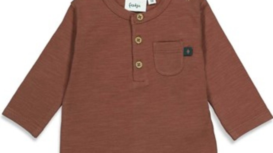 Feetje Shirt (Wild Thing) in Brown