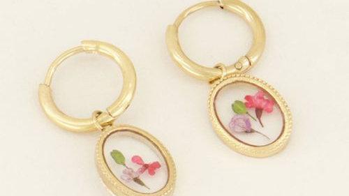 My jewellery oorringen wildflower ovaal