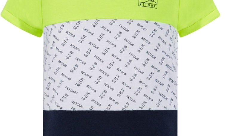 Retour Shirt Floris in Neon Yellow