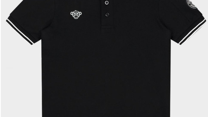 Black Bananas Wavy Polo Black
