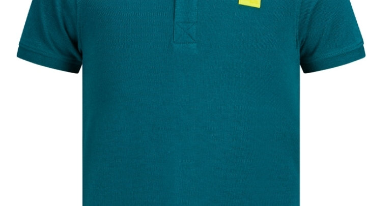Retour Polo Lucas in de kleur Teal