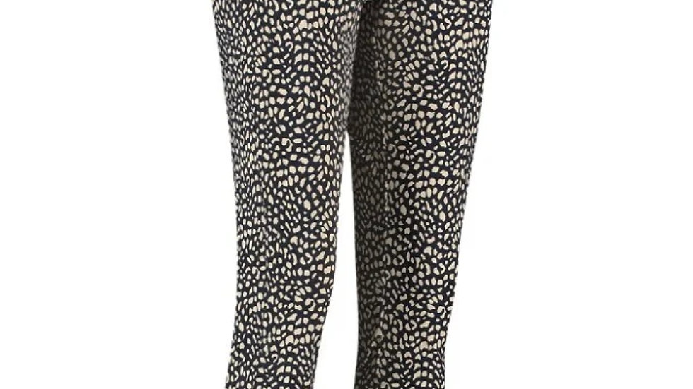 Studio Anneloes Downstairs Trousers Small Dot in Dark Blue/Sahara