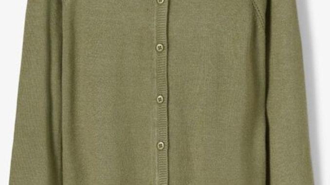 Fine-Knitted Viscose Cardigan vest van Name It in Deep Lichen Green