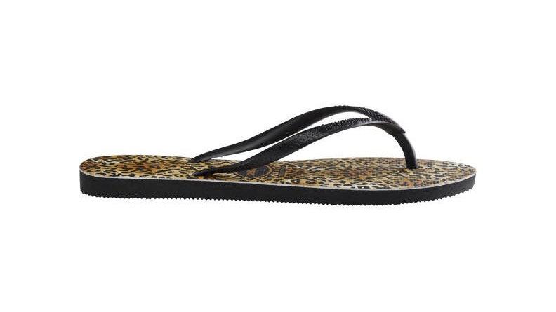 Havaianas Slim Leopard teenslippers met panterprint