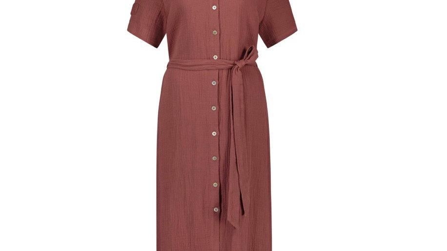 Nukus - Knokke Dress Brick