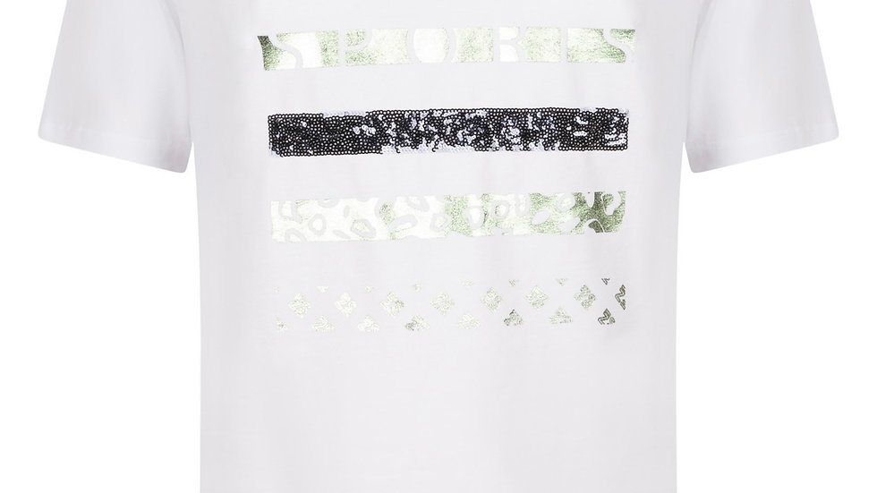Zoso - T-Shirt with Print - White Green
