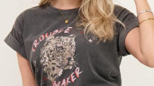 Grijs shirt troublemaker My jewellery