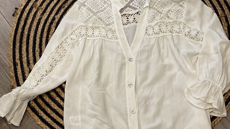 Broderie blouse wit