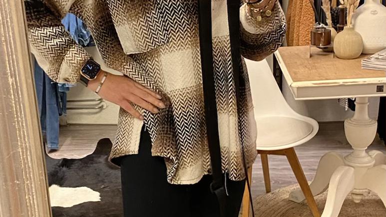 Fleece overhemd