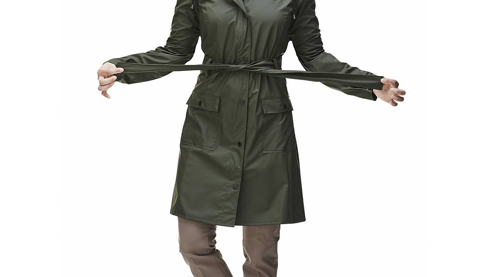 RAINS CURVE JACKET GROEN