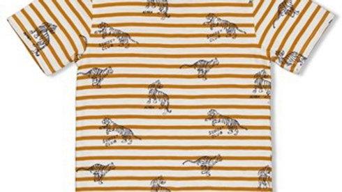 T-shirt streep - Happy Camper Artikelcode : 71700314 Kleur: Okergeel