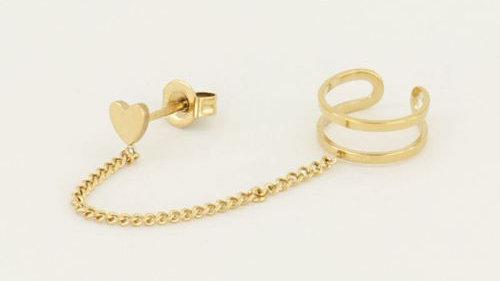 My jewellery Ear cuff hartjes stud