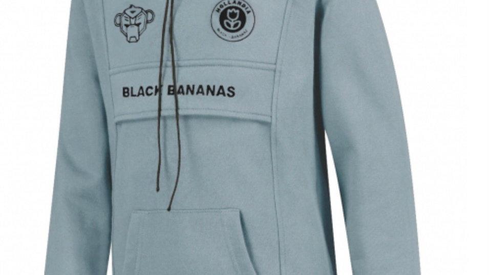 JR Anorak Kangaroo Hoody Black Bananas light blue