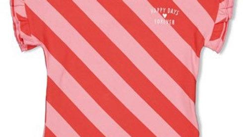 T-shirt streep diagonaal - Tutti Frutti Artikelcode : 91700298 Kleur: Koraal