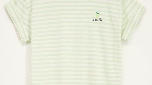 Groen gestreept shirt met lemon  MY JEWELLERY