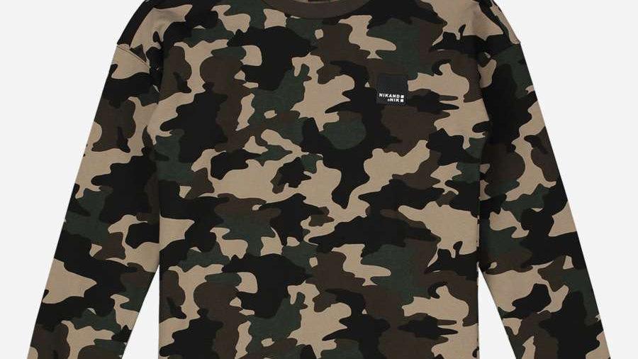 NIK&NIK Groene sweater met all over print