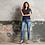 Thumbnail: Sophia medium blue skinny jeans